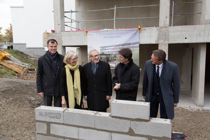 Ceremony for the foundation stone of the new building CRBC (Centre for Research in Clinical Biology).